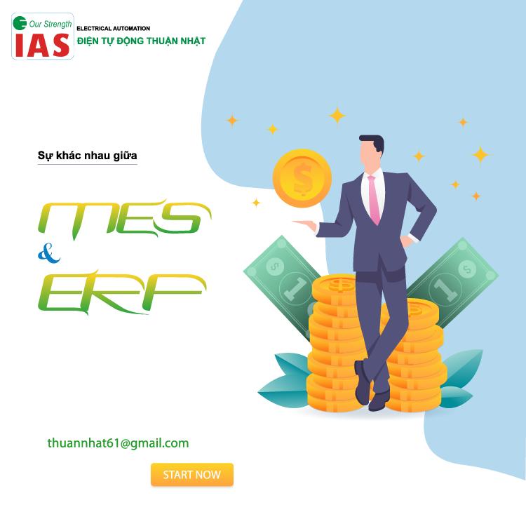 Sự khác nhau giữa MES và ERP